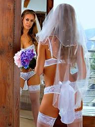 Here Cums The Bride.. featuring Nicole Aniston, Samantha Saint | Twistys.com
