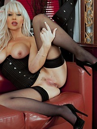 Captivating in black.. featuring Jennifer Jade | Twistys.com