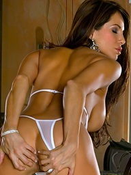 Foxes.com: Lucia Tovar - Sultry Seniorita White Lace Bridal Lingerie